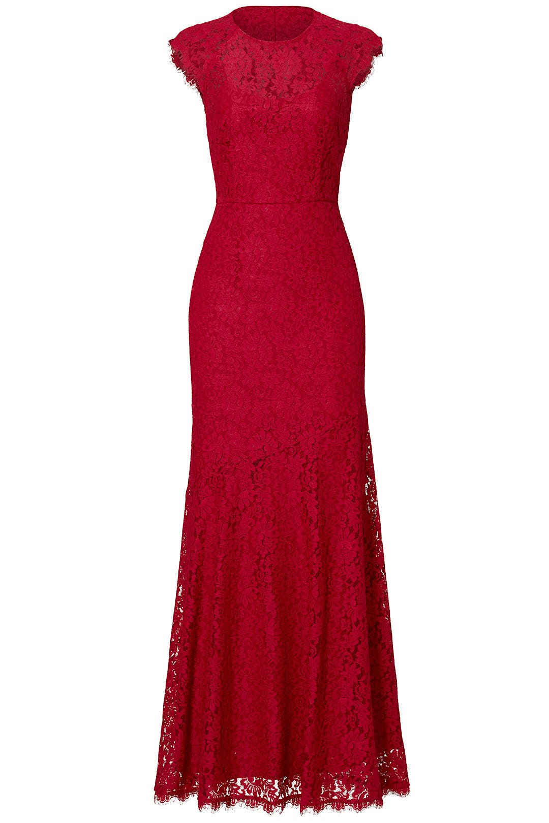 Red Rose Cap Sleeve Gown by Shoshanna for $70 - $90 | Rent the Runway