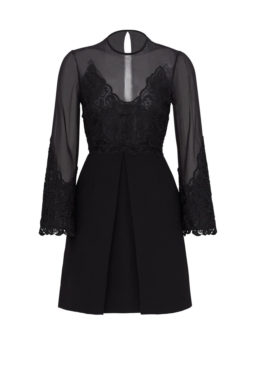 Black Illusion Lace Dress by Jill Jill Stuart for $75 - $90 | Rent ...