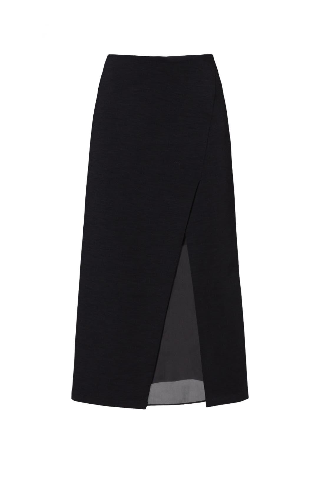 969225abf59779 Black Slit Shadow Pencil Skirt by Donna Karan New York for $180 ...