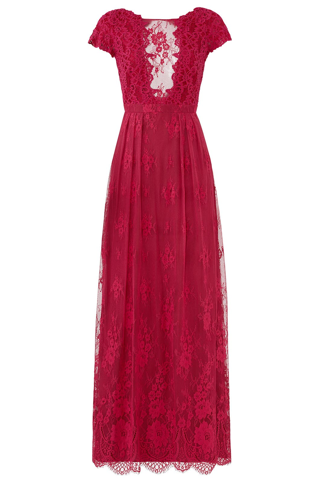 Berry Floral Lace Gown by ML Monique Lhuillier for $75 | Rent the ...