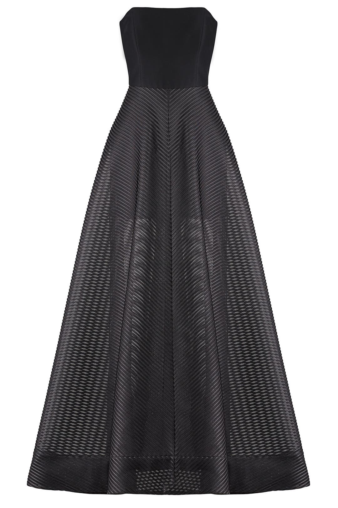 Stripe Mesh Gown by Halston Heritage for $110 | Rent the Runway