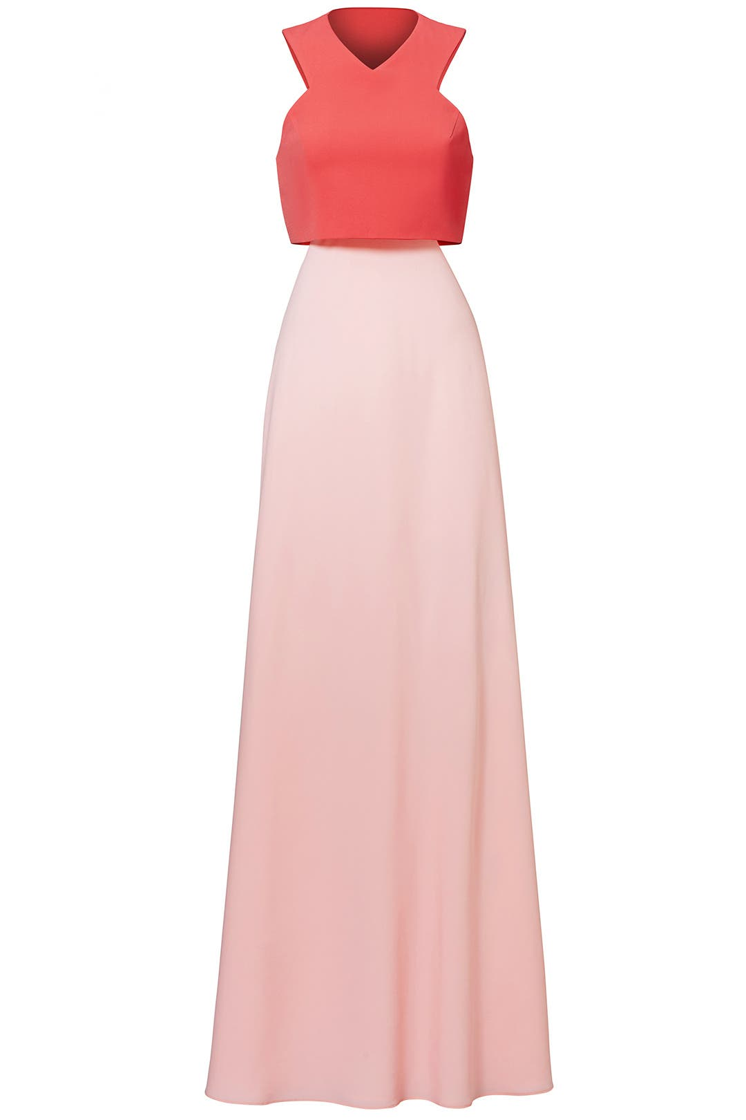 Pink Two-Toned Popover Gown by Jill Jill Stuart for $50 - $70 | Rent ...