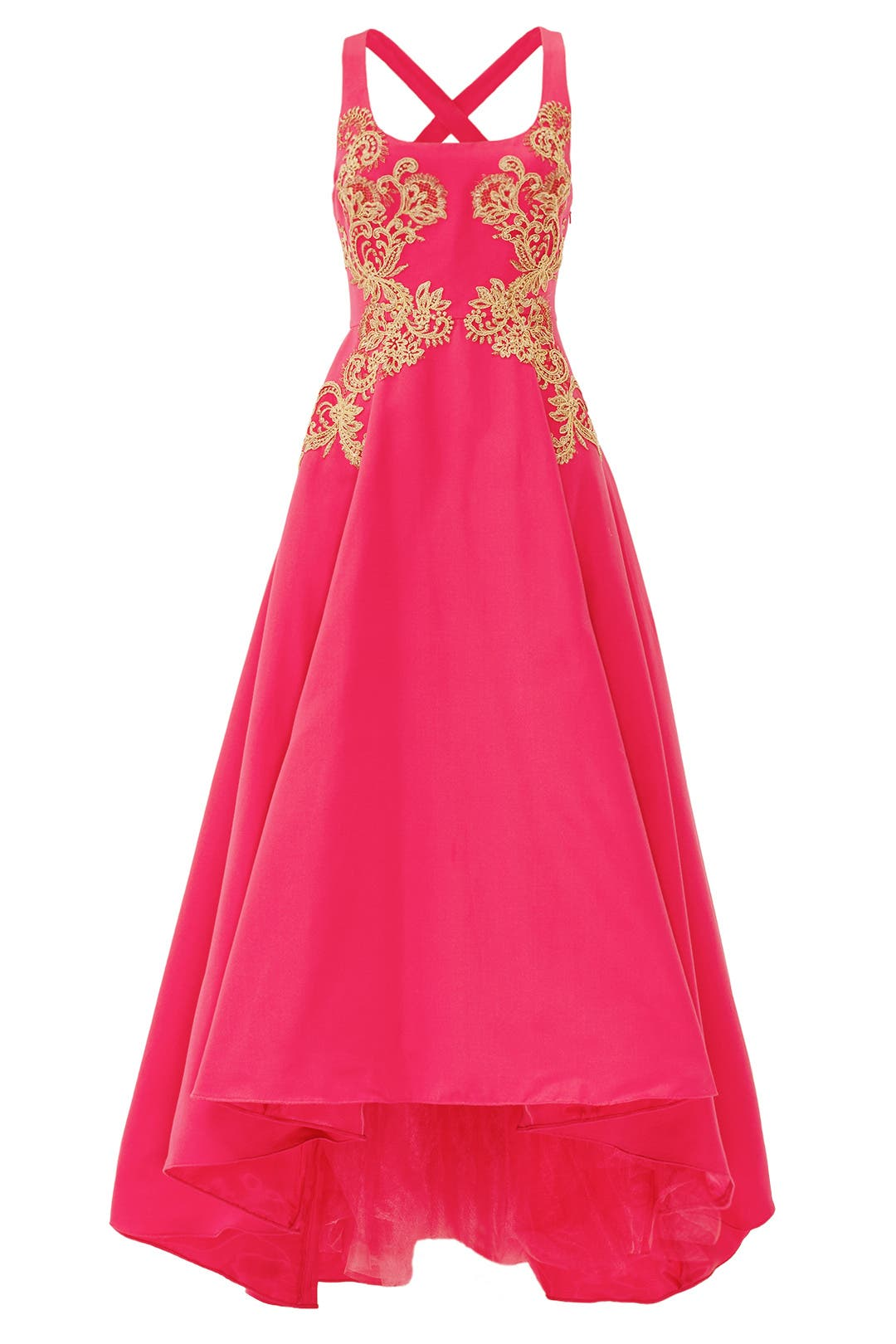 Gilded Royal Fuchsia Gown by Marchesa Notte