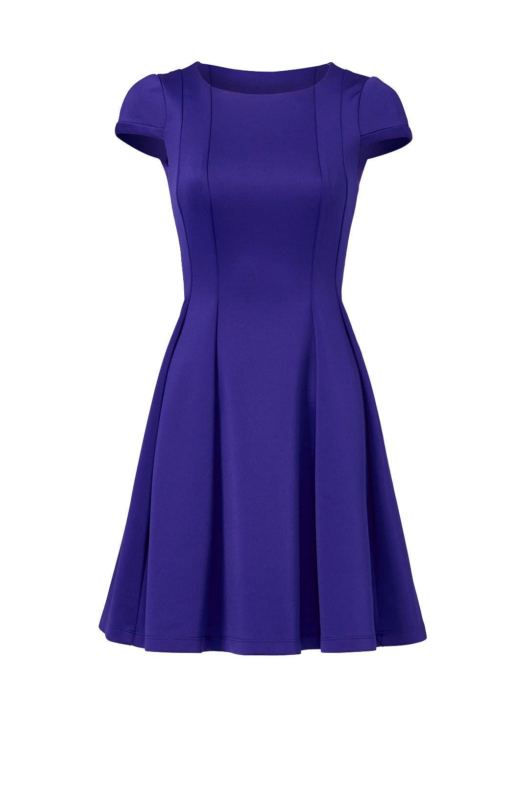 Capped in Purple Dress by Yoana Baraschi