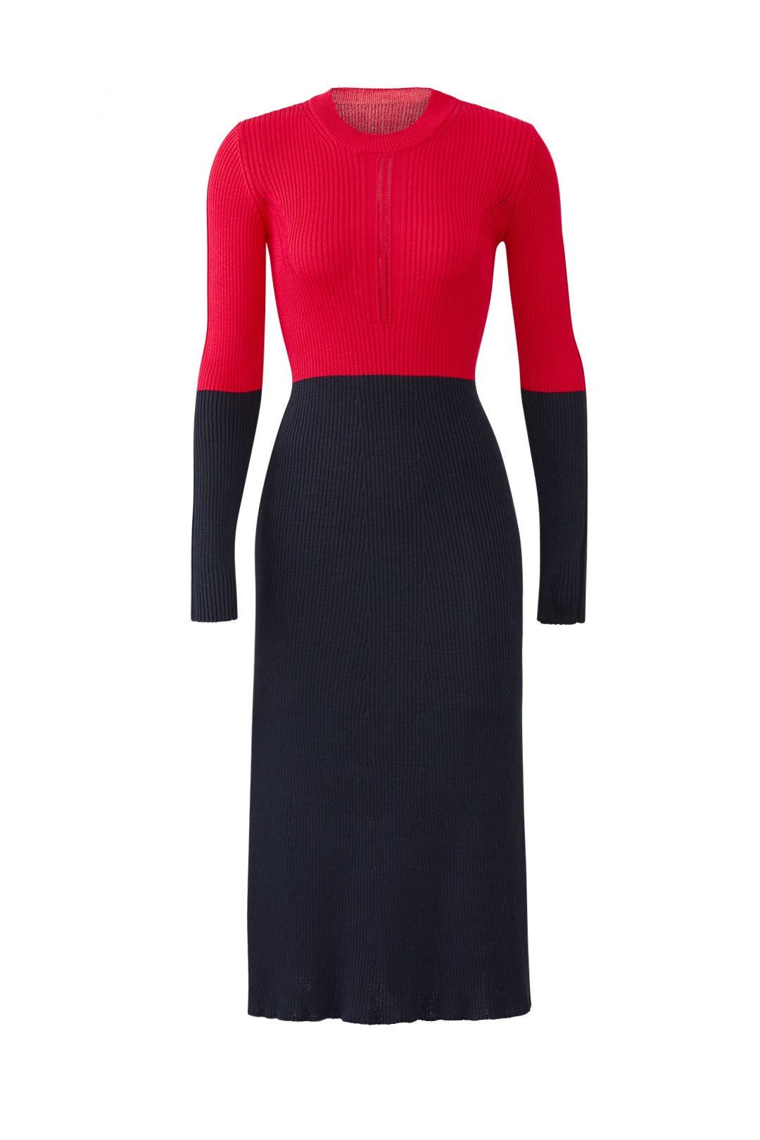 2e042d618a2 Long Sleeve Colorblock Knit Dress by Cedric Charlier for  135