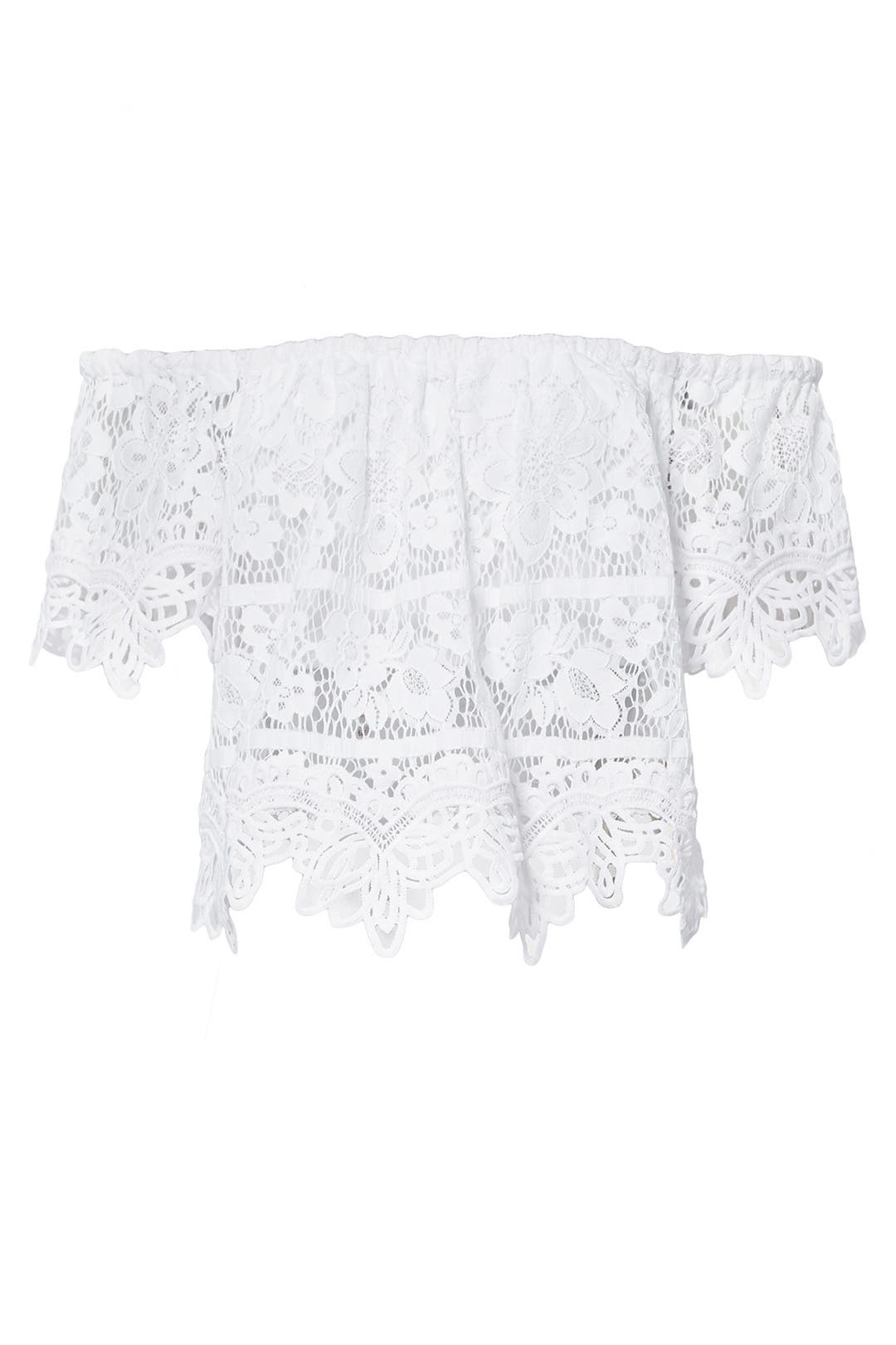 Silver pearl marisol white lace 1 - Free People White Lace