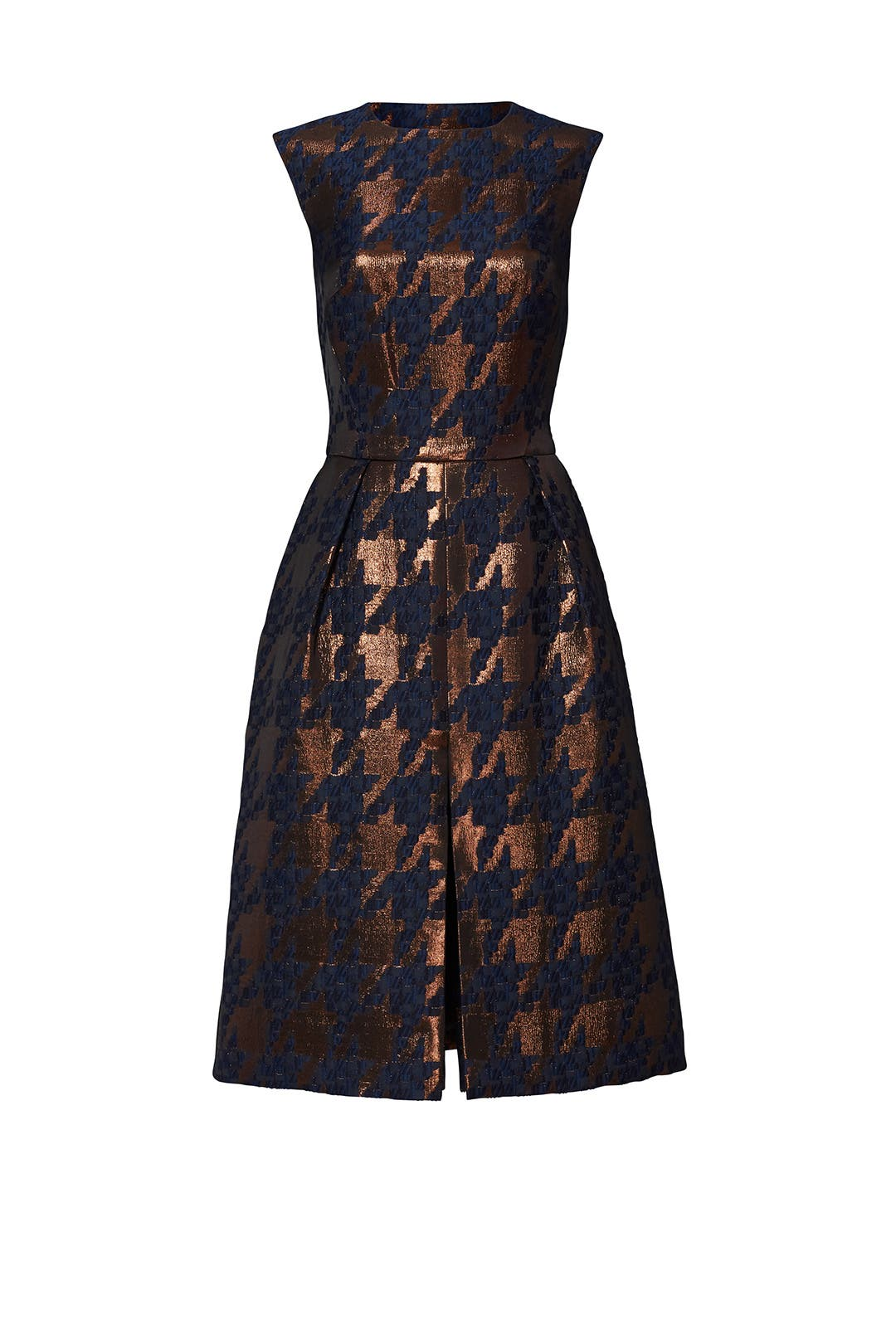 Bronze Houndstooth Dress by Martin Grant for $230 | Rent the Runway