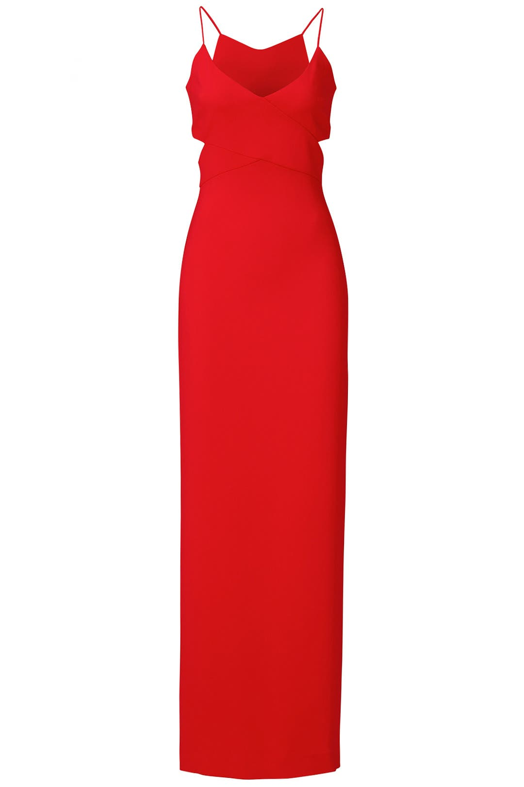 Badgley Mischka Woman Knotted Crepe Gown Red Size 0 Badgley Mischka
