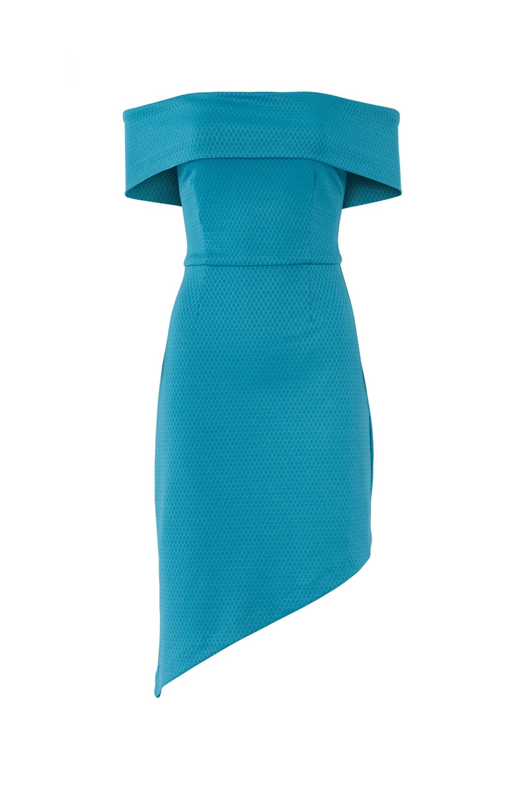 Blue Off Shoulder Asymmetric Dress by Slate & Willow for $30 - $45 ...