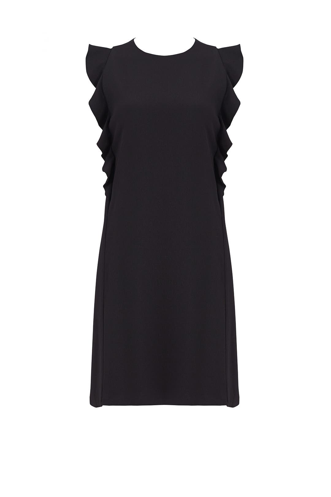 Black Ruffle Crepe Dress by Carven for $85 | Rent the Runway