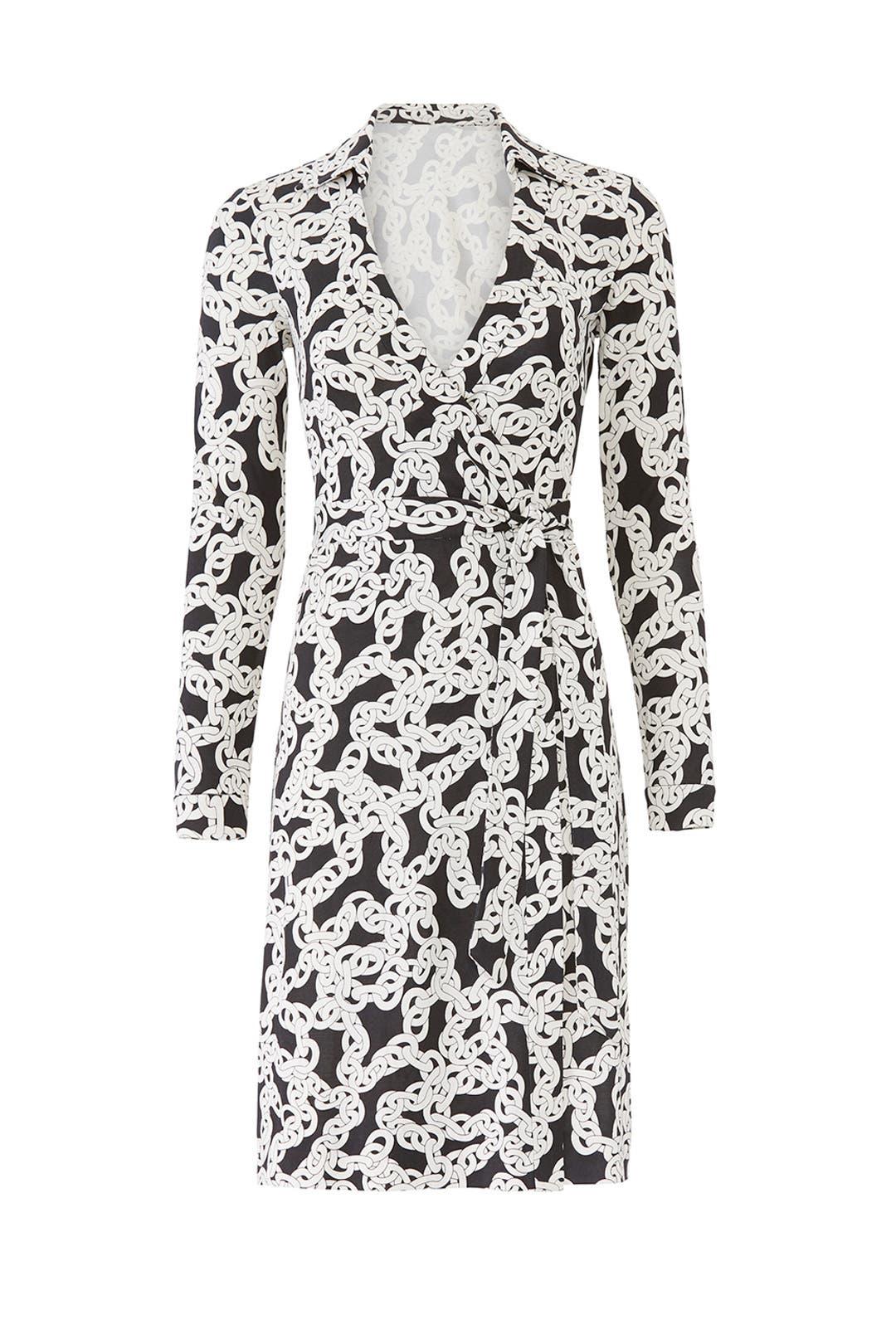 2e292d84f3c Diane von Furstenberg. Read Reviews. New Jeanne Chain Wrap Dress