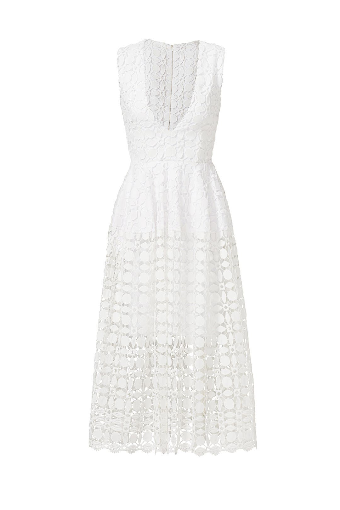 Nicholas Tiered Lace Dress