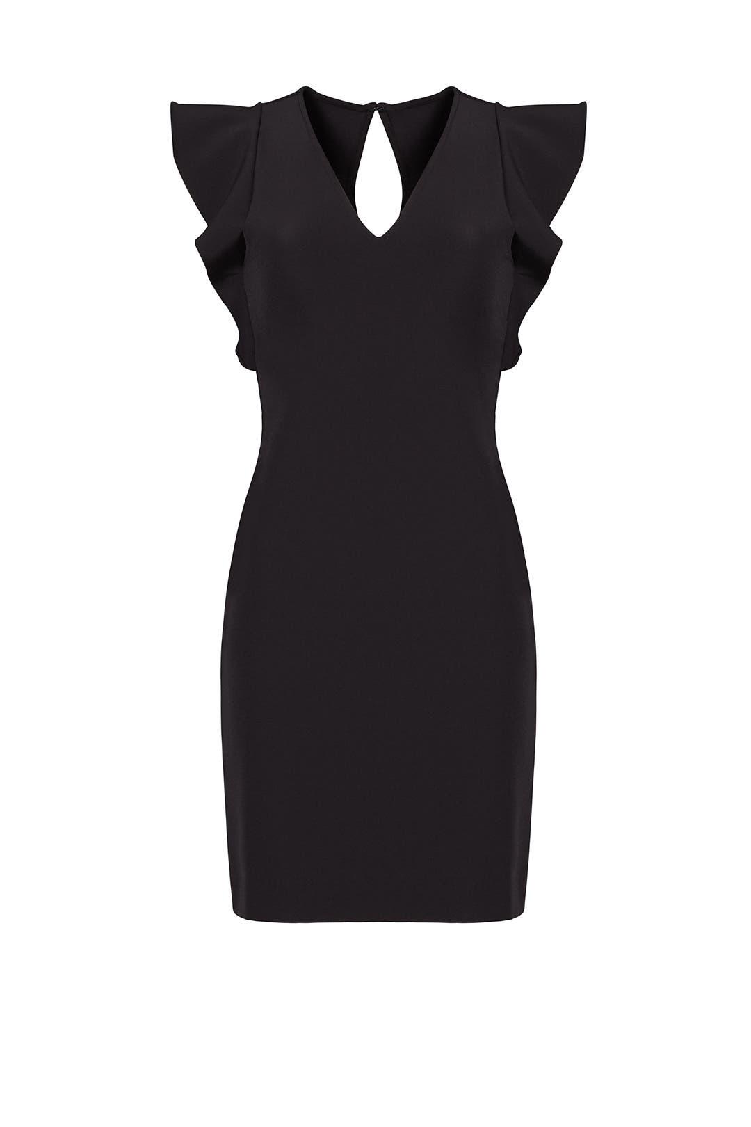 Black True Love Ruffle Dress by Yoana Baraschi for $30 - $50 ...