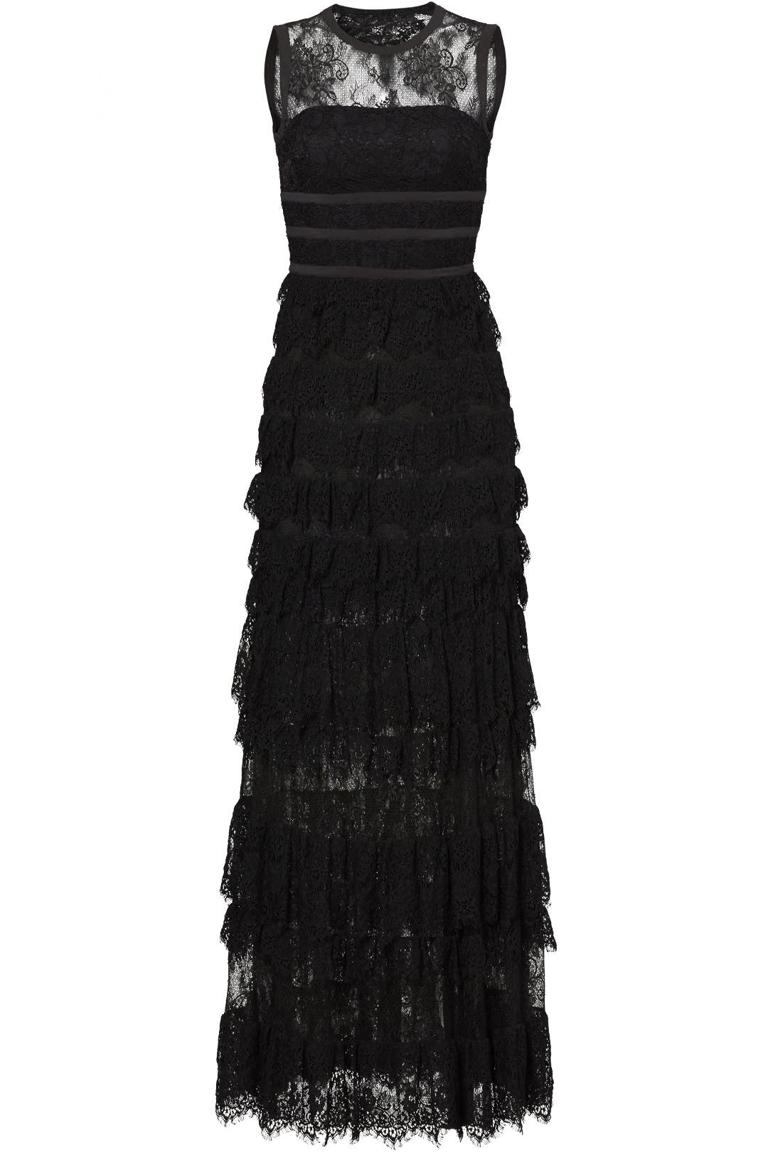 Black Lace Shannon Gown by ML Monique Lhuillier for $80 - $100 ...
