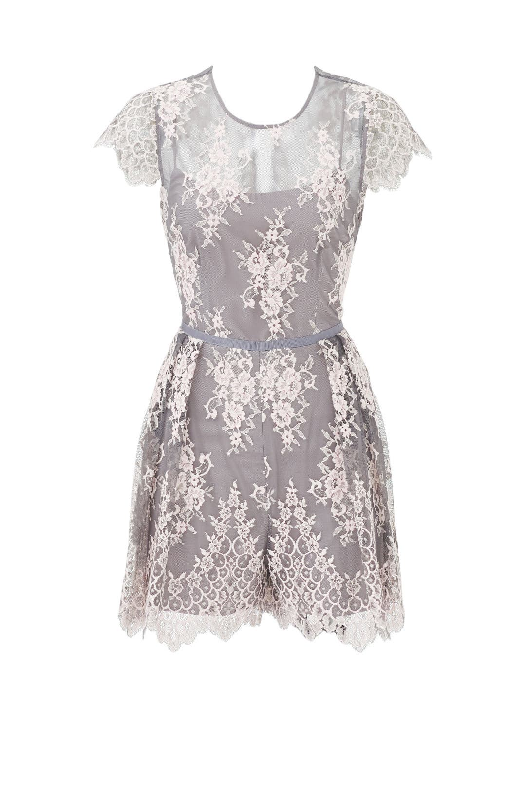 Silver pearl marisol white lace 1 - Melanie Lace Romper By Nha Khanh