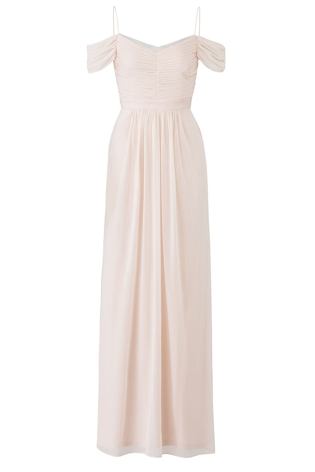 Blush Drape Gown by Adrianna Papell for $50 - $80 | Rent the Runway