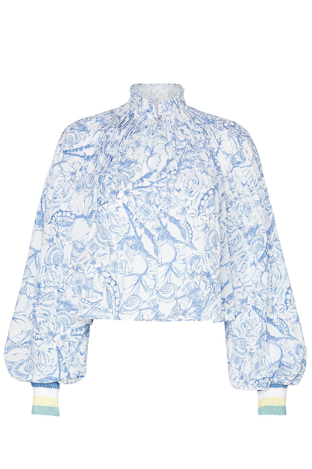 ff10fdf59c0a79 Tibi. Read Reviews. Isa Toile Cropped Edwardian Top