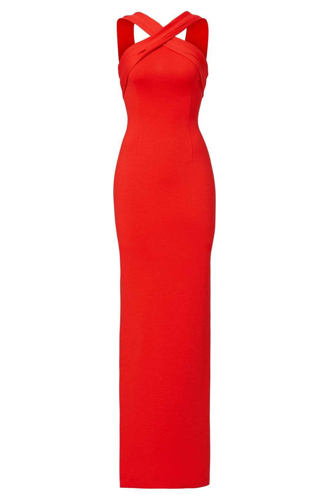 Red Halter Cross Gown by Nicholas for $80 - $100 | Rent the Runway