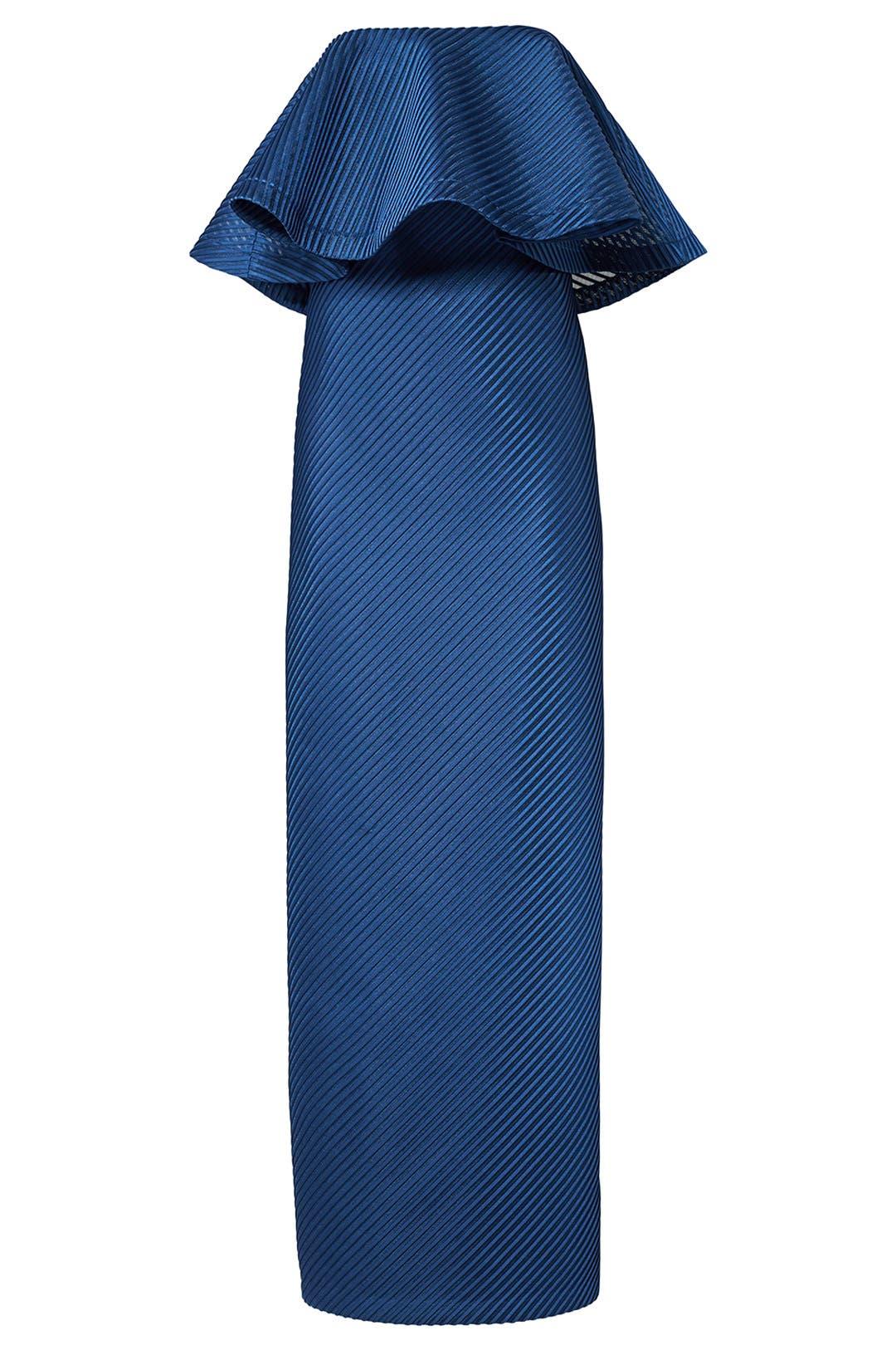 Halston Patrimoine Femme Bleu Taille Cobalt Maxi Robe En Crêpe De Découpe 8 Patrimoine Halston pNYac
