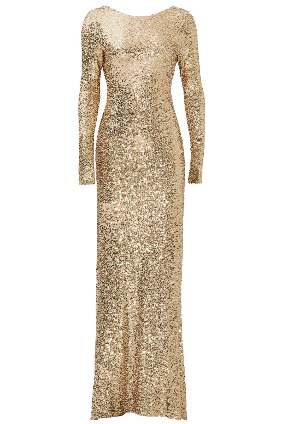 Gold Dara Gown by Badgley Mischka for $100 | Rent the Runway