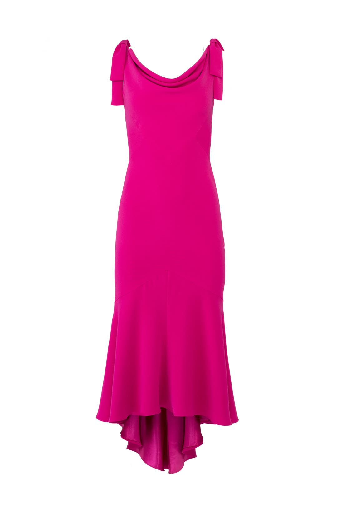 Tied Fuchsia Dress by Carmen Marc Valvo for $110 | Rent the Runway