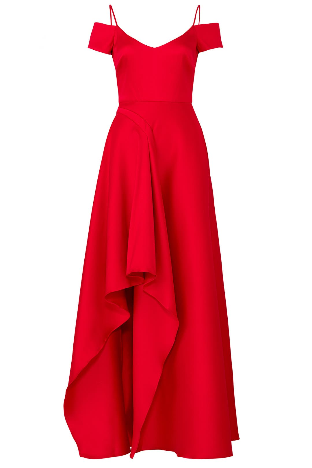 Red Asymmetrical Gown by Badgley Mischka for $145 | Rent the Runway