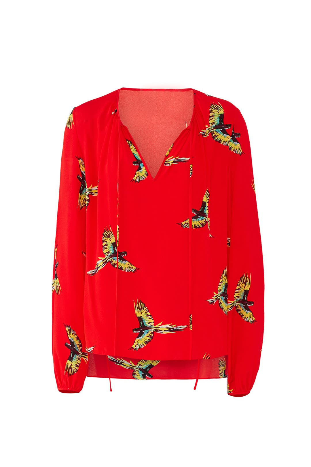 87249d2f5aa40 Diane von Furstenberg. Read Reviews. Red Keyhole Blouse