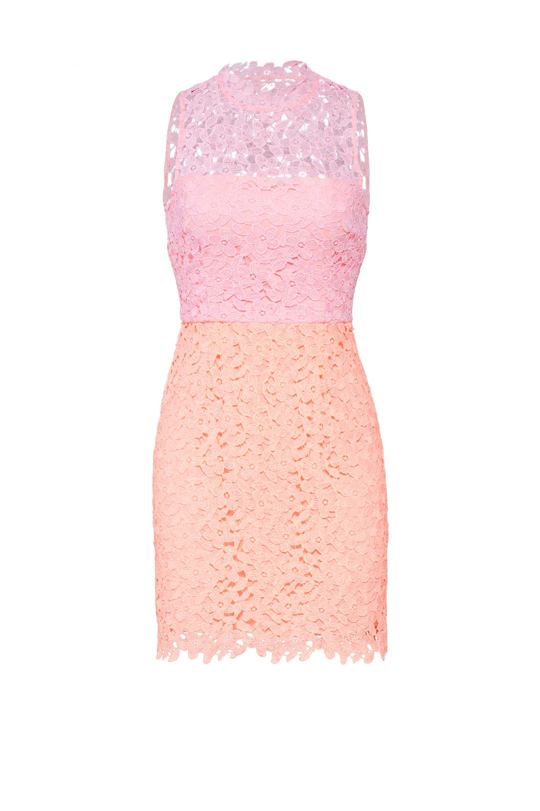 Pink Lace Colorblock Dress by Slate & Willow for $30 - $35 | Rent ...