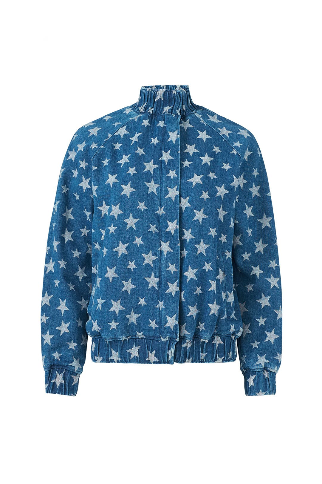 bceb3d39872 The Fifth Label. Read Reviews. Star Print Denim Bomber