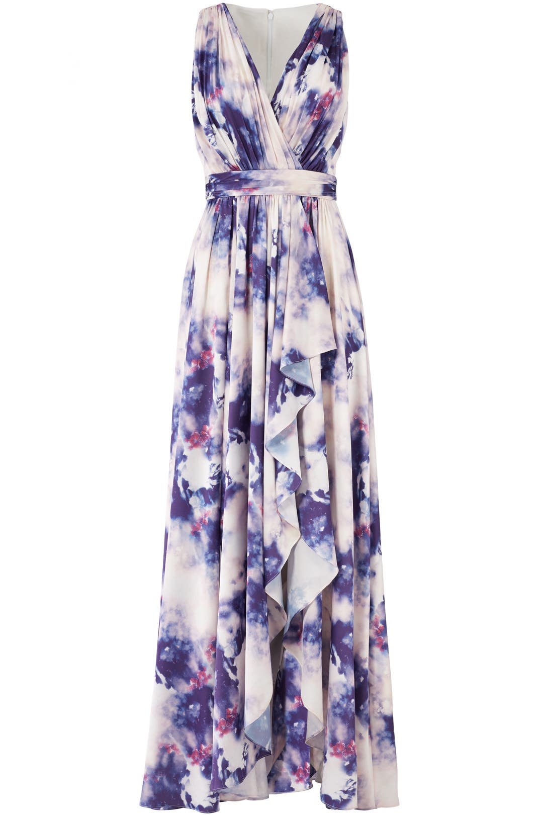 Purple Cloud Printed Maxi by Badgley Mischka for $105 - $115 | Rent ...