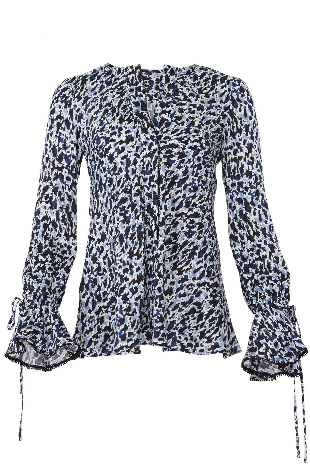 02a3c2f92ec48 Blue Leopard Print Blouse by Derek Lam 10 Crosby for  55