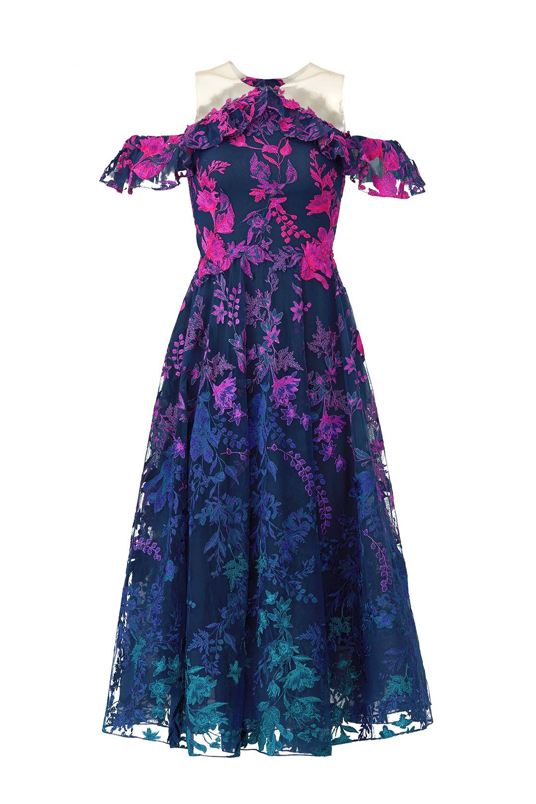 Ombre Floral Dress by Marchesa Notte for $100 - $120   Rent the Runway