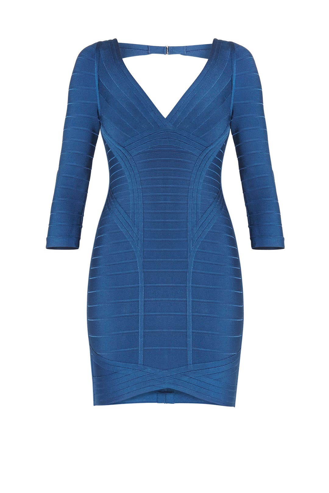 Blue Kahli Narrow Bandage Dress by Hervé Léger