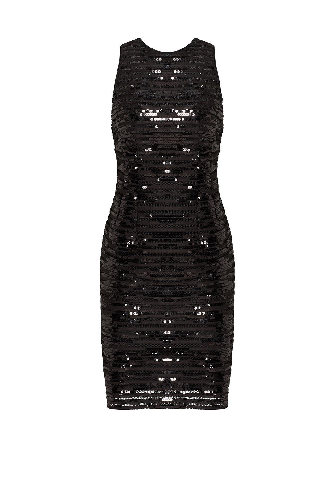 a8b838ed0d Black Sequin Stripe Sheath by Nanette Lepore for  48