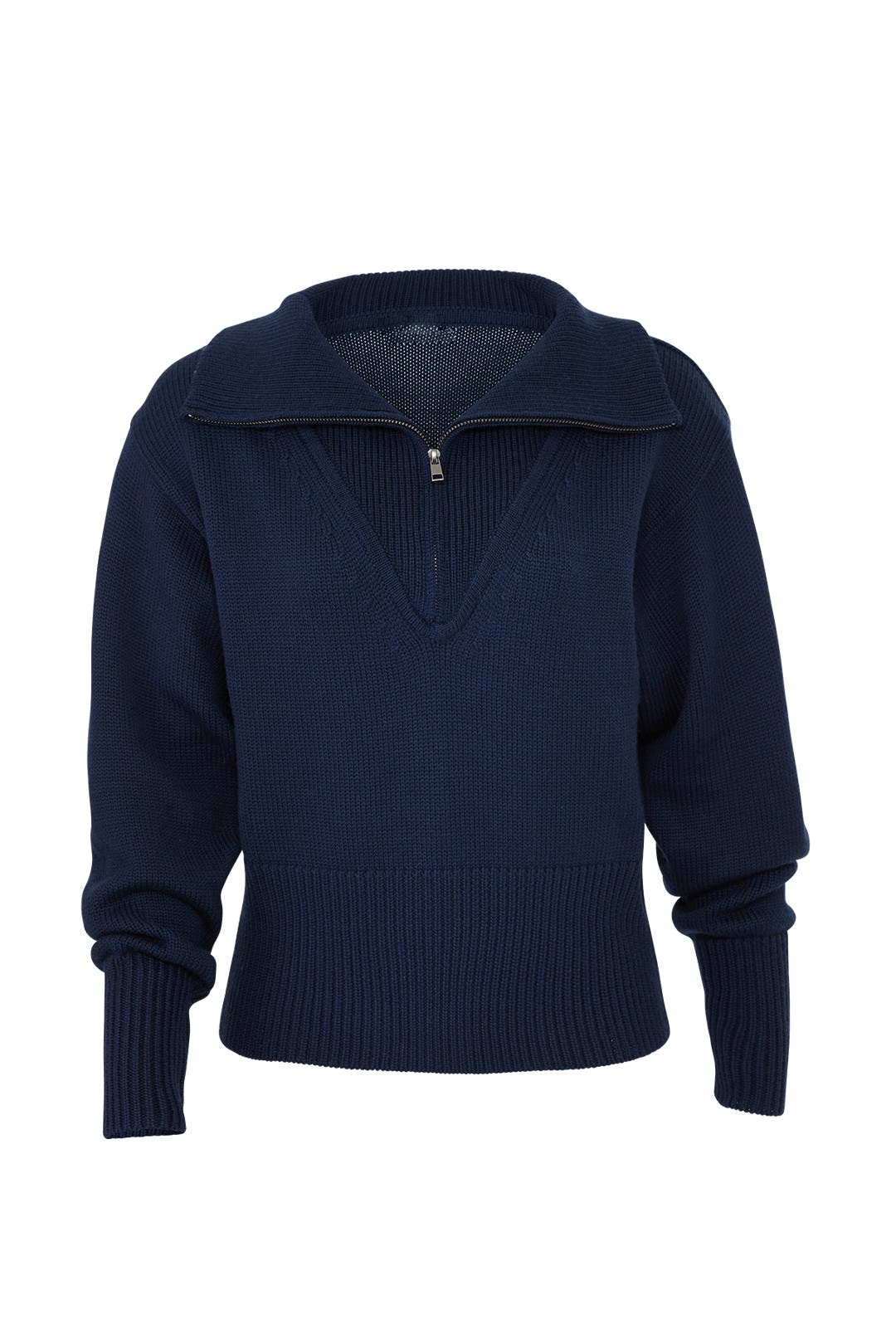 Navy Zip Up Sweater by Jil Sander Navy for  105  bab0e72a65230