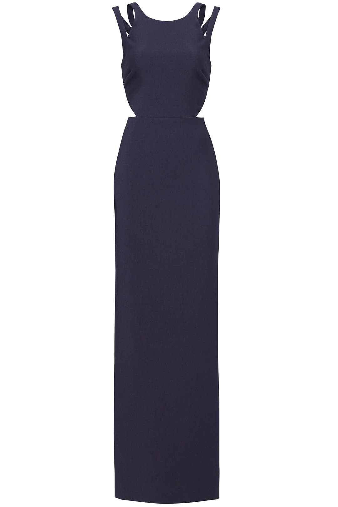 Navy Marina Cutout Gown by LIKELY for $65 - $75 | Rent the Runway