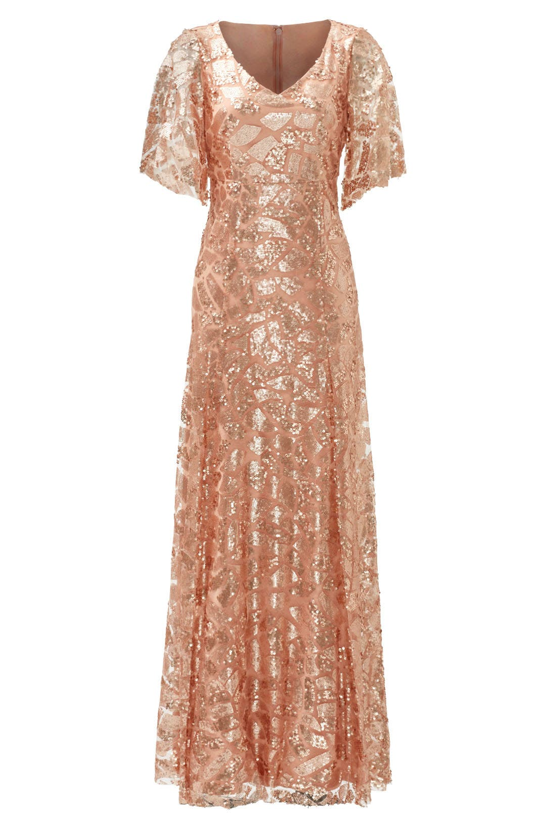 Shimmering Rose Gown by Slate & Willow for $53   Rent the Runway