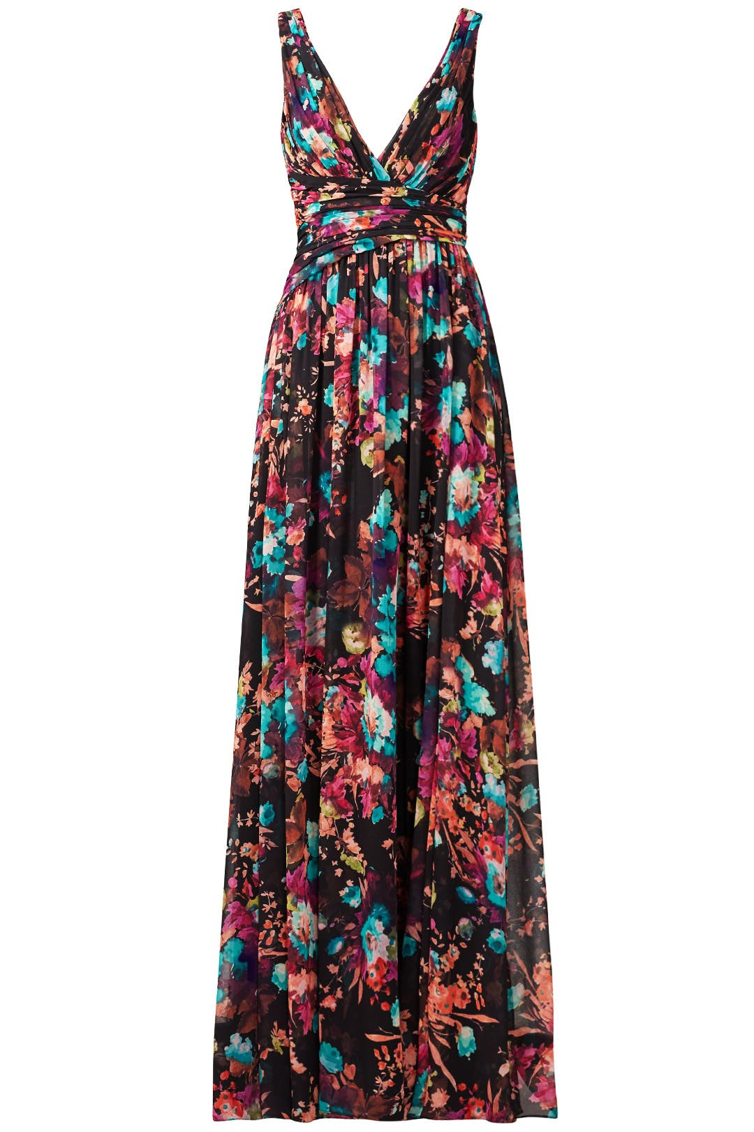 Dark Floral Gown by Badgley Mischka for $110 - $130 | Rent the Runway