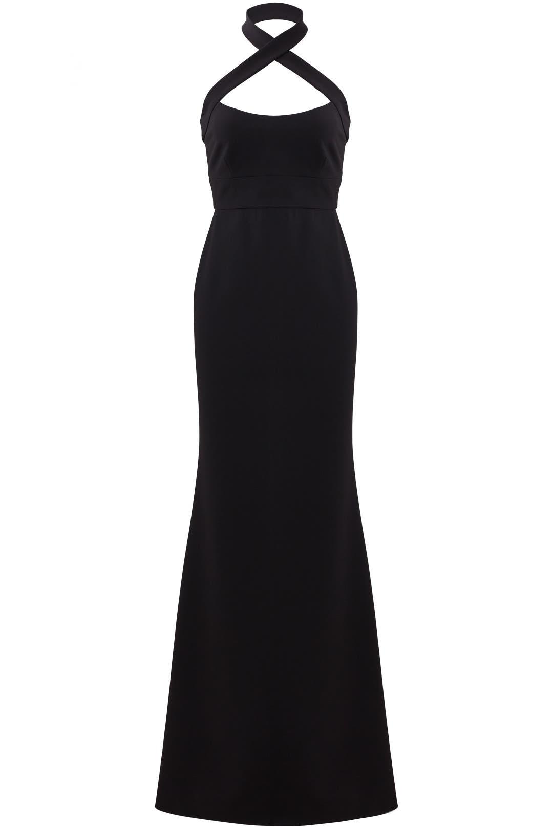 Black Halter Gown by Jill Jill Stuart for $100 - $110 | Rent the Runway