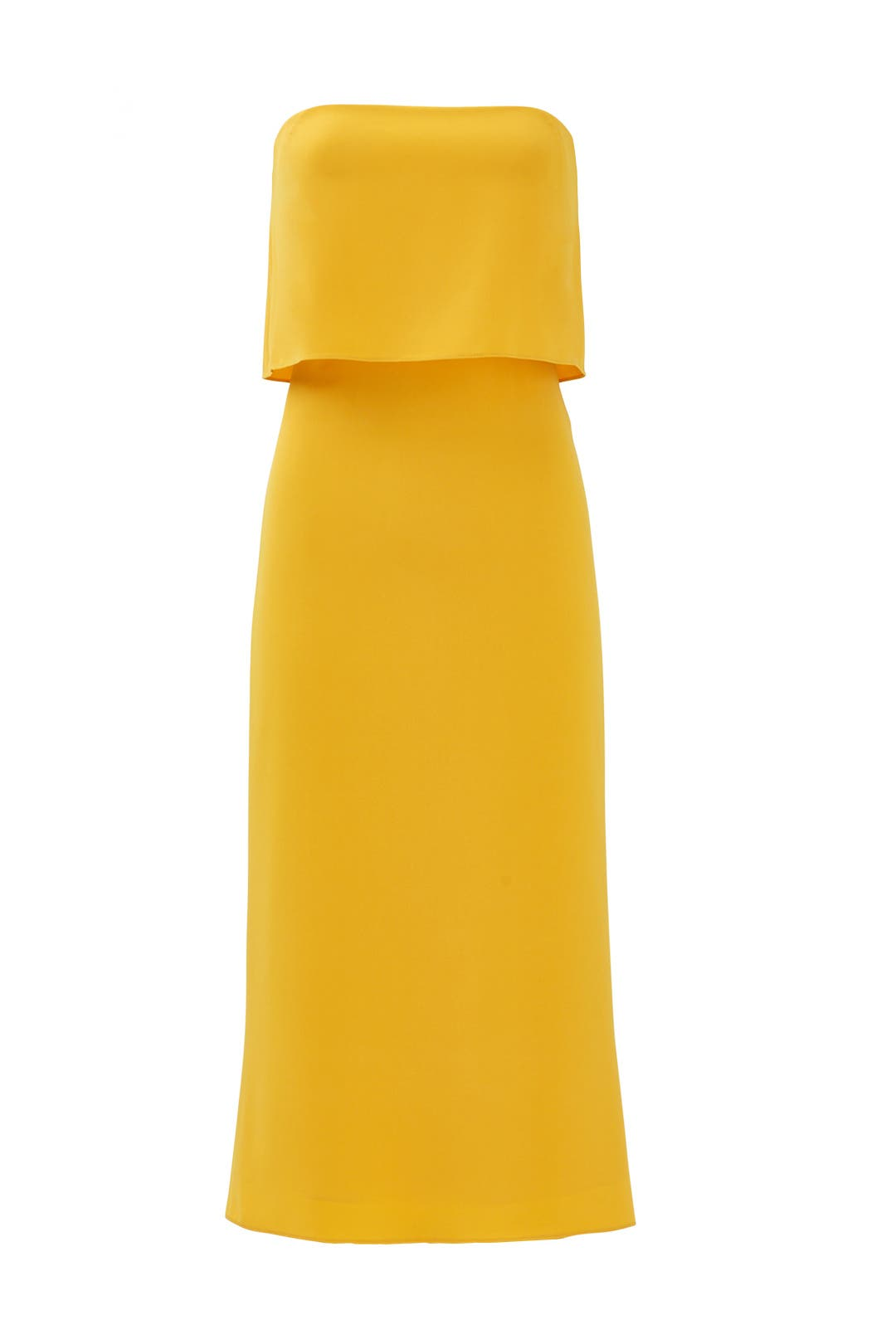 Marigold Strapless Tiered Dress by Halston Heritage for $50 - $65 ...