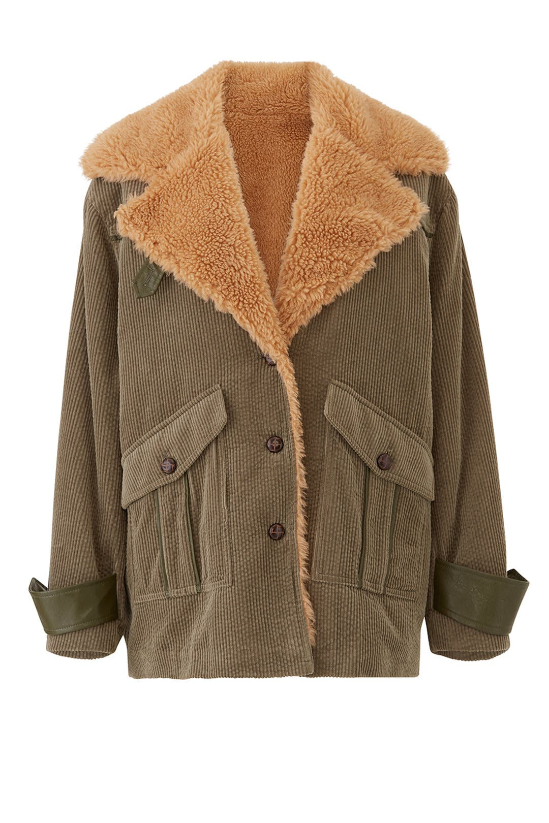Faux Sherpa Corduroy Jacket By Avec Les Filles For 30 Rent The Runway