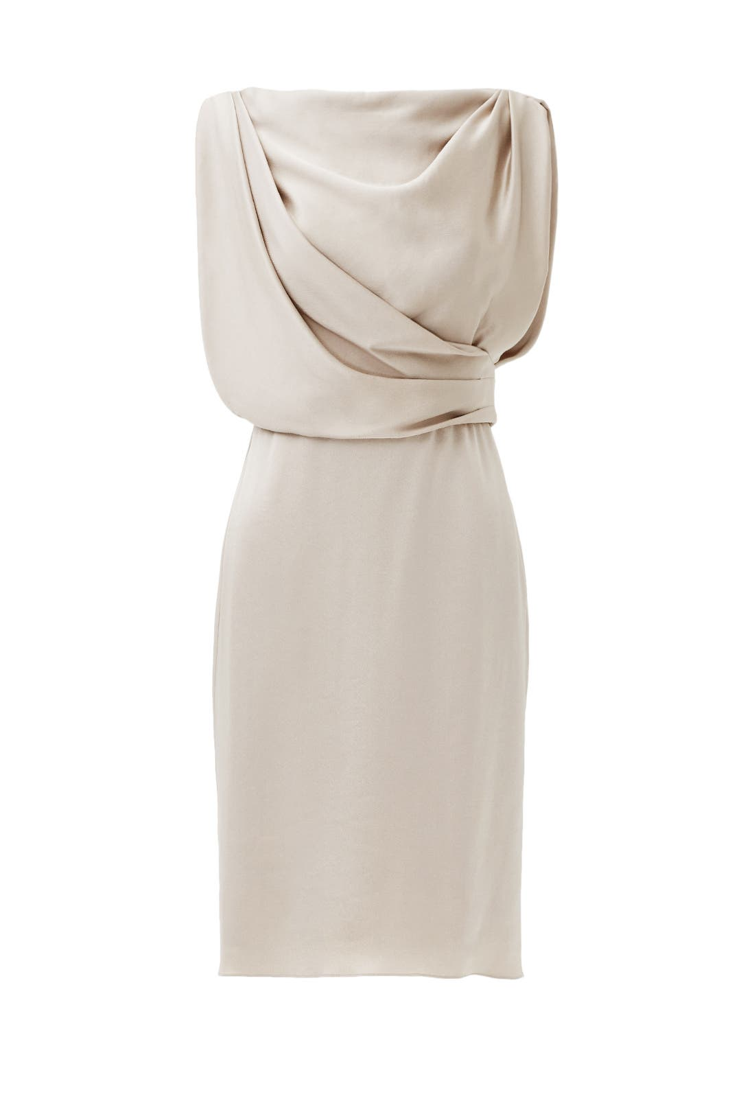 Taupe Grecian Draped Dress by Jason Wu for $275 | Rent the Runway