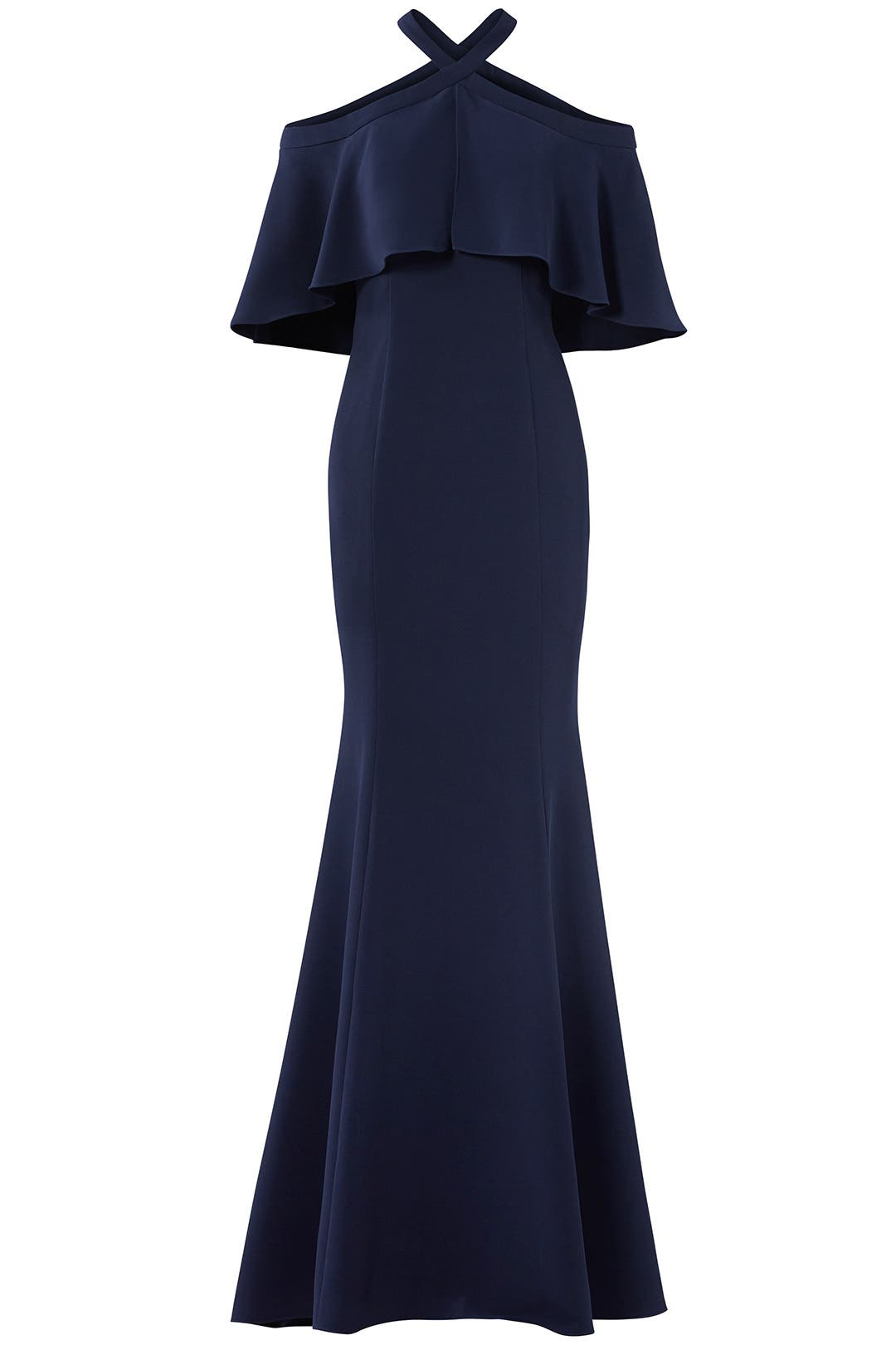 Navy Kayla Gown by Carmen Marc Valvo for $100 - $120 | Rent the Runway