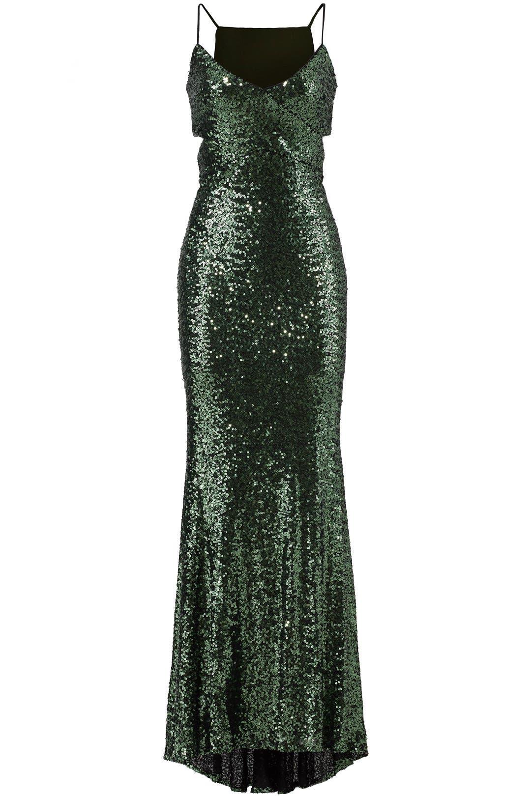 Emerald Sequin Gown by Badgley Mischka for $70 - $90 | Rent the Runway