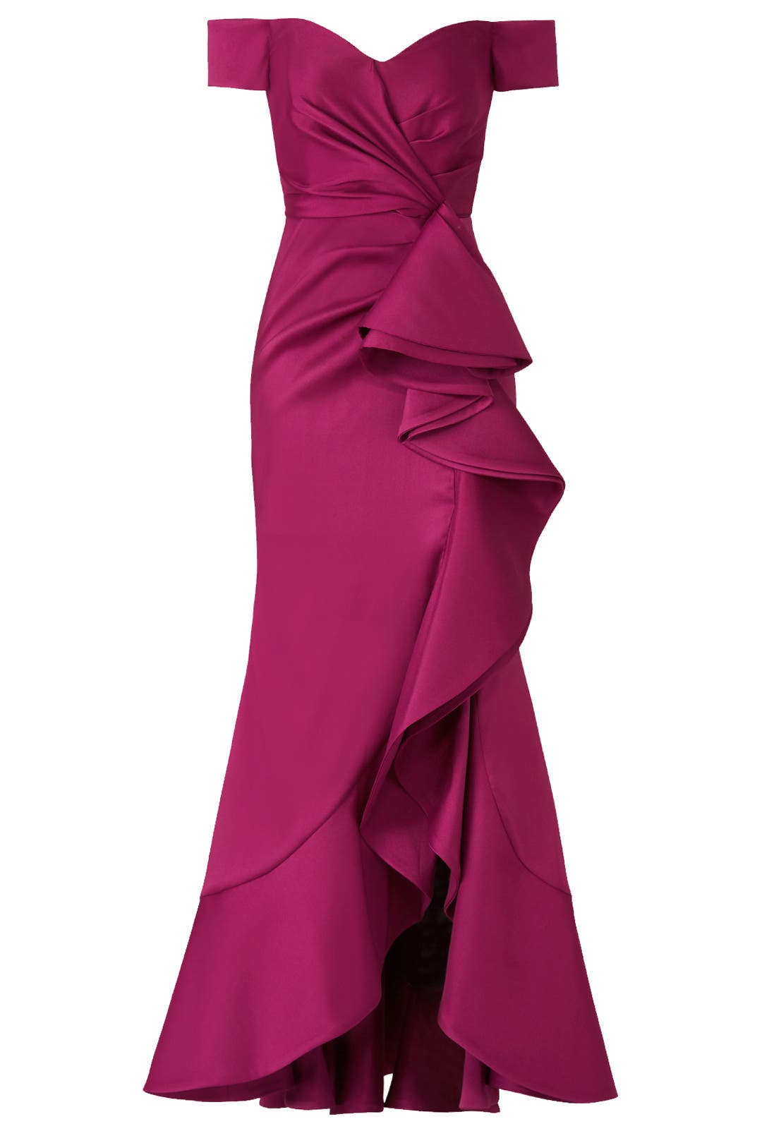 Sangria Ruffle Gown by Badgley Mischka for $140 | Rent the Runway