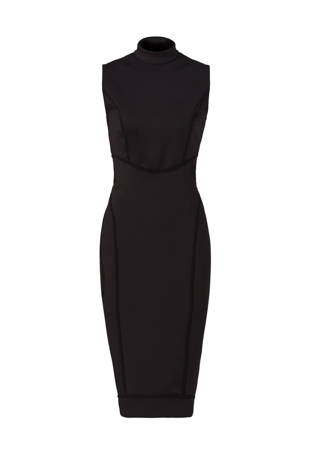 Long black dress xs scuba