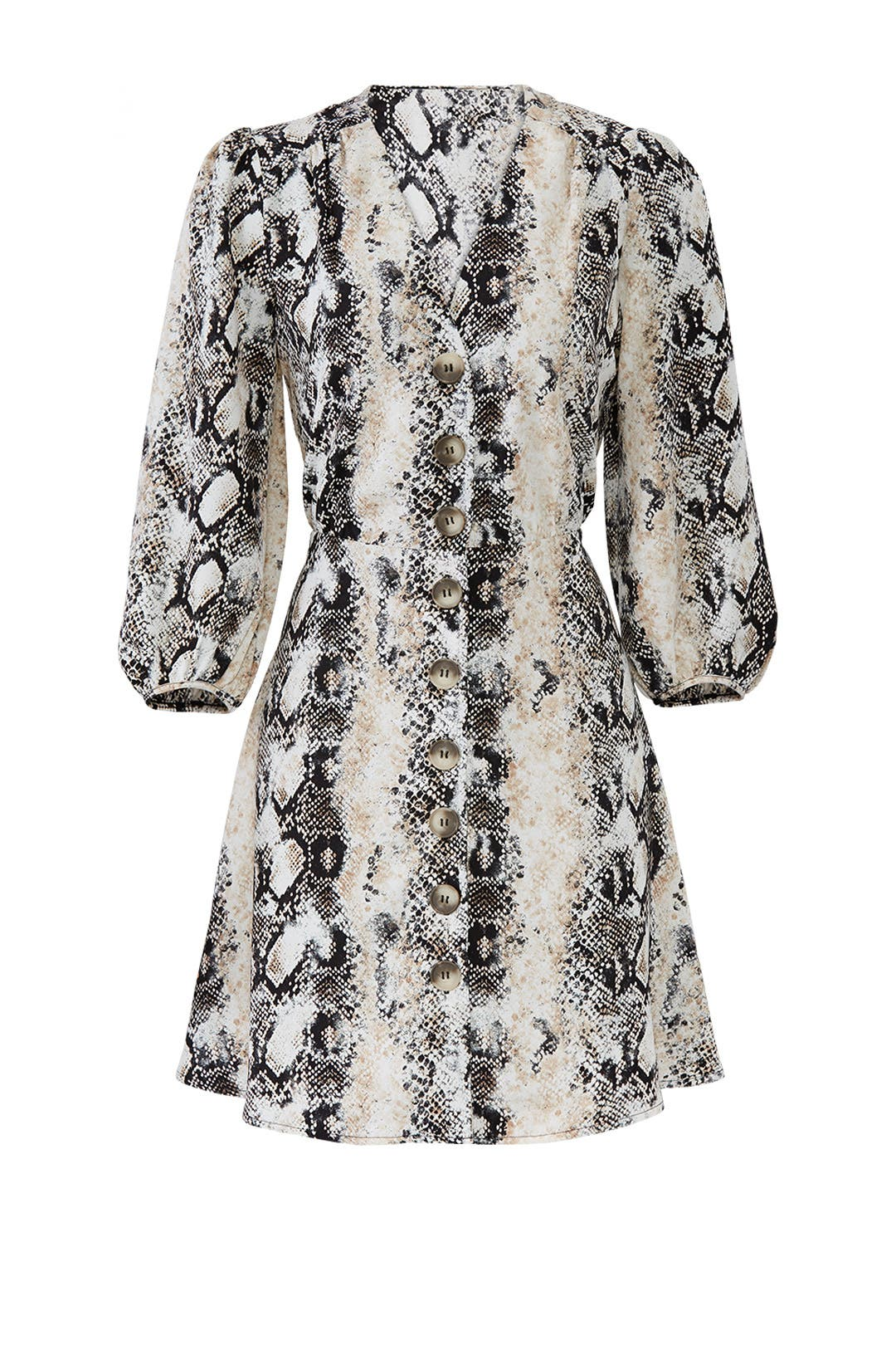 afe498aa587 Slate   Willow. Read Reviews. Python Button Front Dress