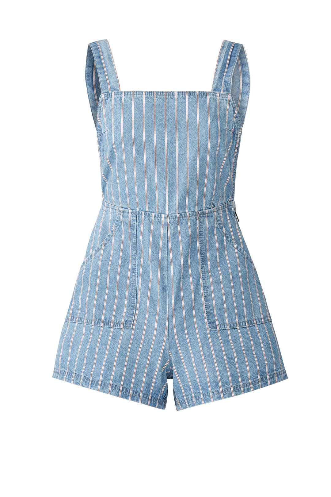 84a463edcbc Draw The Line Denim Romper by MINKPINK for  30