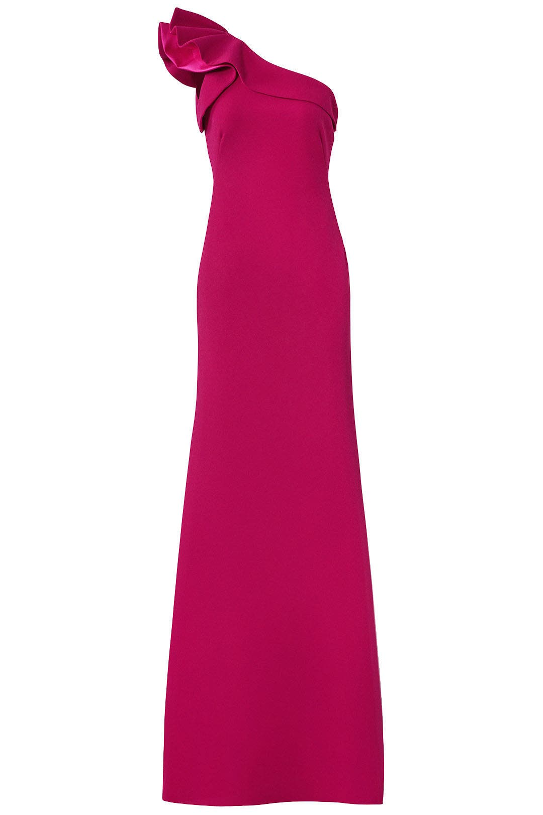 Fuchsia Ruffle Gown by Carmen Marc Valvo for $90 - $110 | Rent the ...
