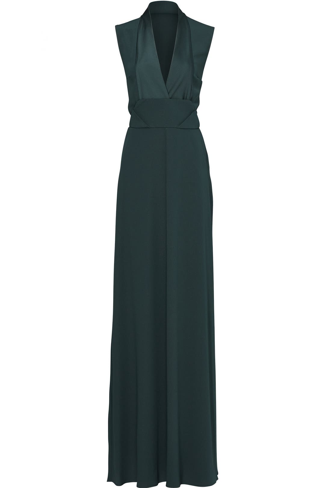 Forest Green Envelope Structure Gown by Carven for $90 - $110 | Rent ...